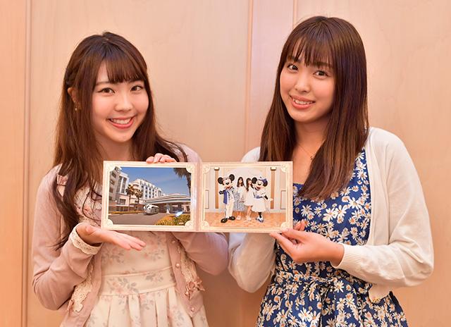 撮った写真は、オリジナルフォトフレームに入れて人数分プレゼントされます。自慢の一枚を旅の思い出に!